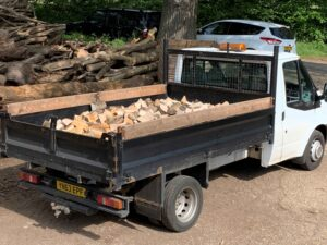 Lorry of firewood 2 cubic metre load